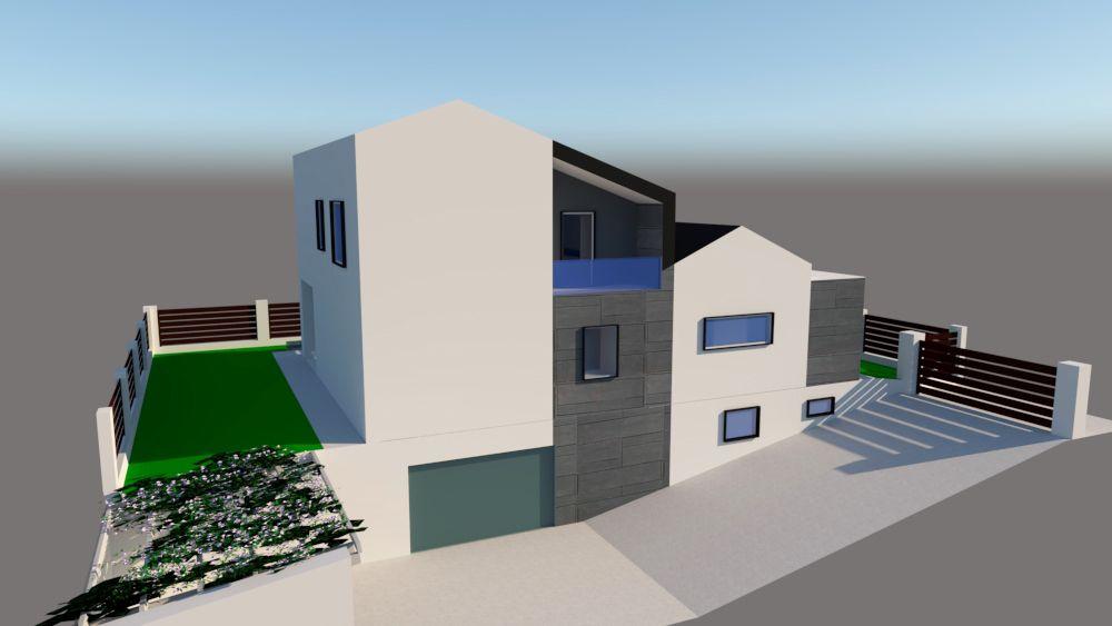 progetto architettura residenziale Via dei Bazachi PC 1