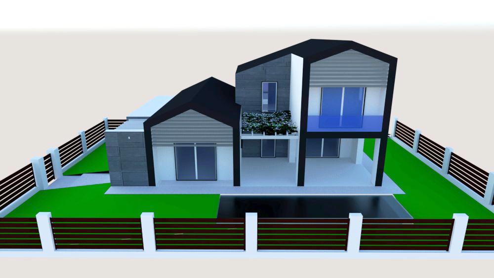 progetto architettura residenziale Via dei Bazachi PC 10