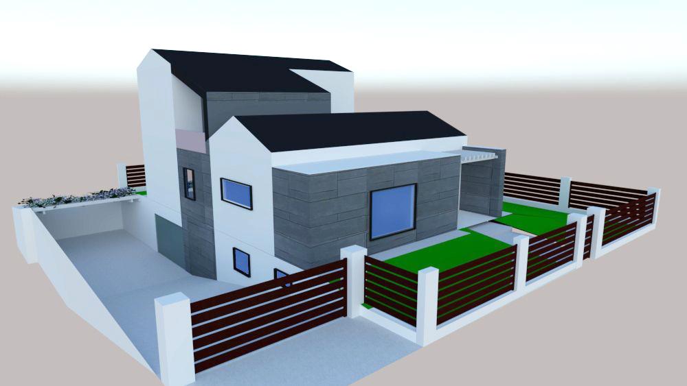 progetto architettura residenziale Via dei Bazachi PC 2